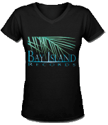 Women's V Neck Black T-Shirt