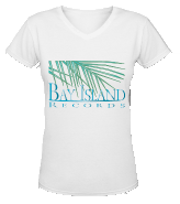 Women's White V Neck T-Shirt